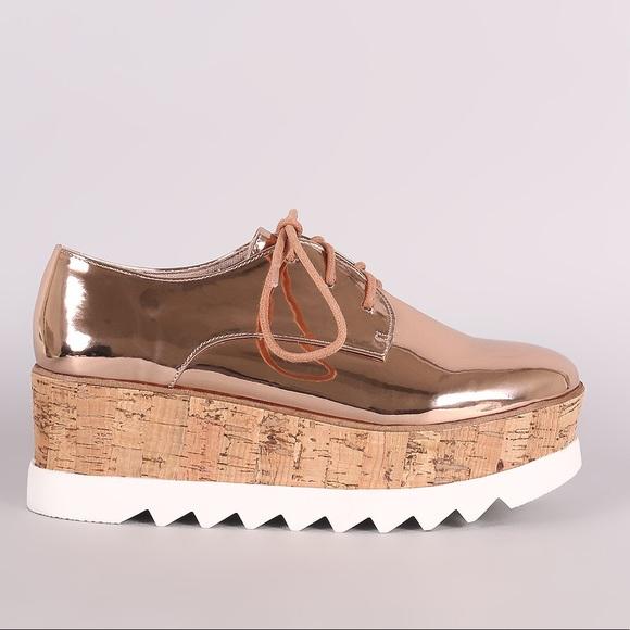 Rose Gold Platform Sneakers | Poshmark